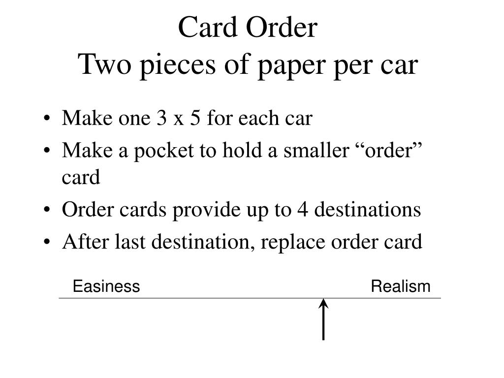 Card Order