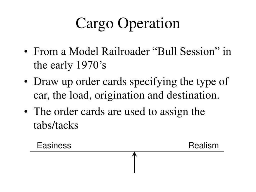 Cargo Operation