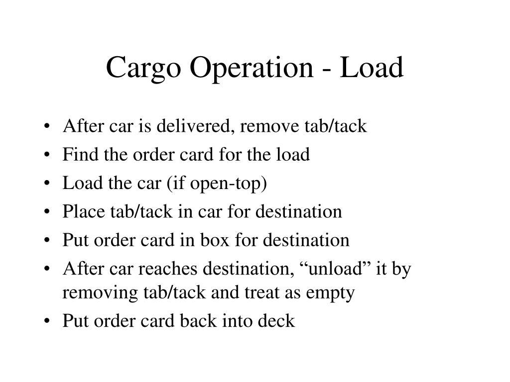 Cargo Operation - Load