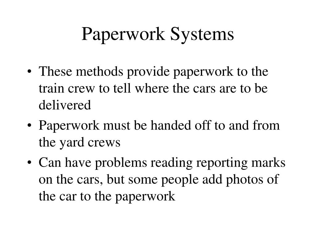 Paperwork Systems