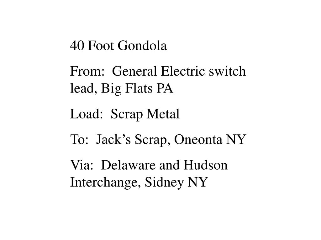 40 Foot Gondola