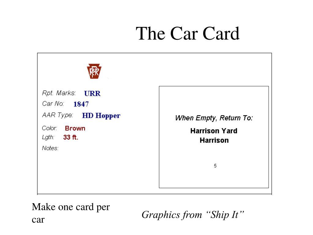 The Car Card