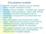 circulation module