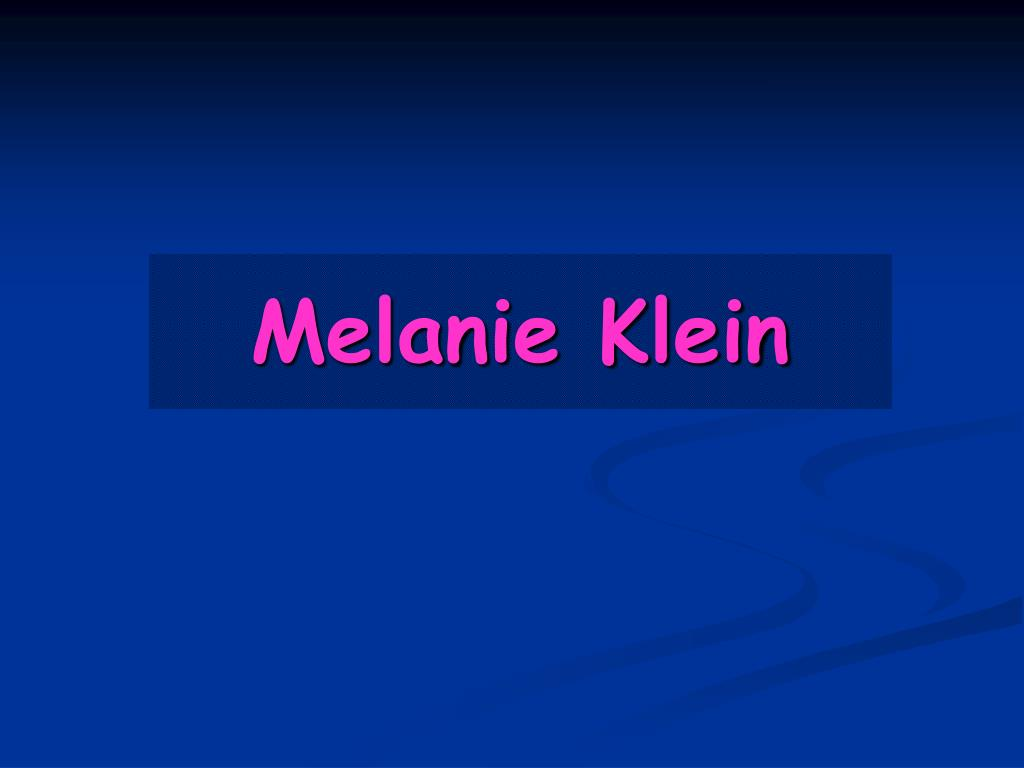 melanie klein l.