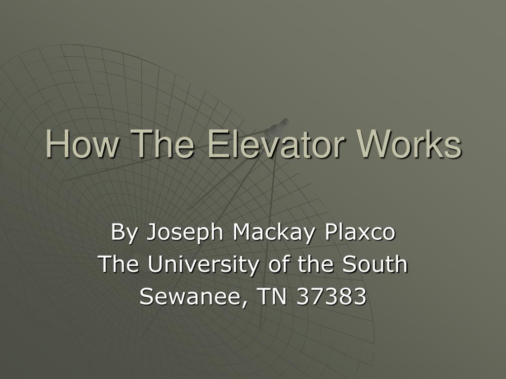 how the elevator works l.