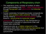 components of respiratory chain