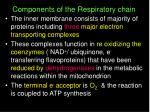 components of the respiratory chain