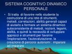 sistema cognitivo dinamico personale