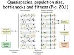 quasispecies population size bottlenecks and fitness fig 20 1