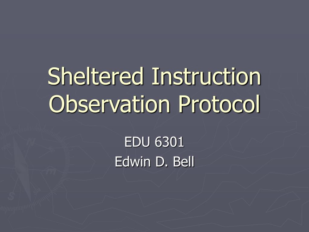 sheltered instruction observation protocol l.