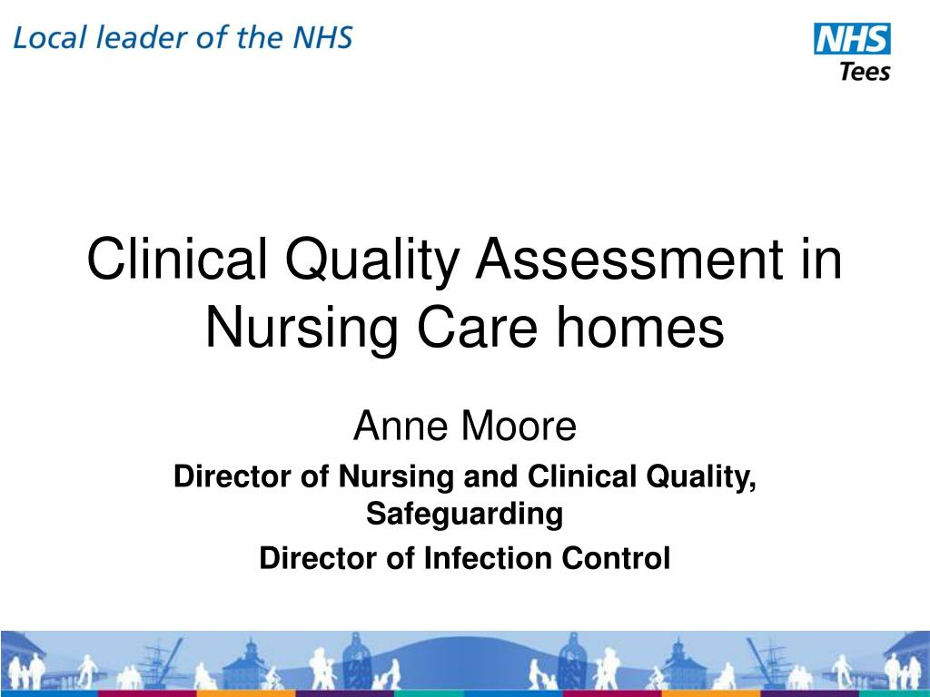 clinical quality assessment in nursing care homes l.