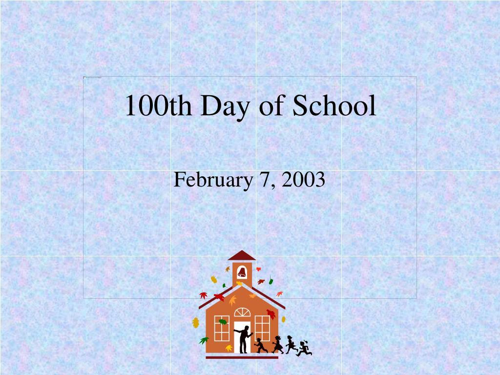100th day of school l.