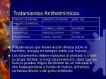 tratamientos antihelm nticos
