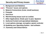security and privacy issues10