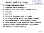 security and privacy issues20