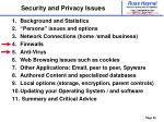 security and privacy issues25