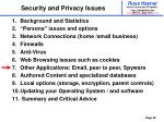 security and privacy issues39