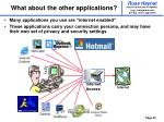 what about the other applications