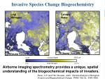 invasive species change biogeochemistry