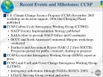 recent events and milestones ccsp