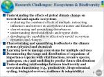 research challenges ecosystems biodiversity