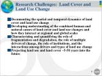research challenges land cover and land use change