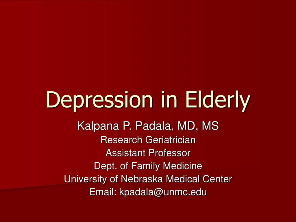 depression in elderly l.