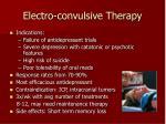 electro convulsive therapy