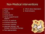 non medical interventions