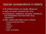 special considerations in elderly42