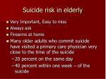 suicide risk in elderly