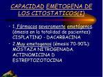 capacidad emetogena de los citostaticos i