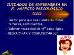 cuidados de enfermeria en el aspecto psicol gico iii
