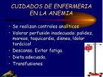 cuidados de enfermeria en la anemia
