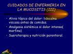 cuidados de enfermeria en la mucositis iii