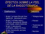 efectos sobre la piel de la radioterapia