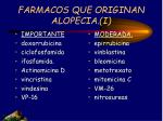 farmacos que originan alopecia i