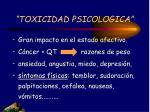 toxicidad psicologica