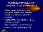 trombocitopenia ii cuidados de enfermeria