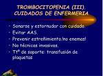 trombocitopenia iii cuidados de enfermeria