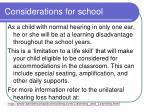 considerations for school66