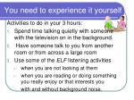 you need to experience it yourself20