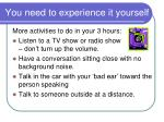 you need to experience it yourself21