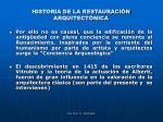historia de la restauraci n arquitect nica3
