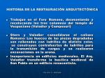 historia de la restauraci n arquitect nica8