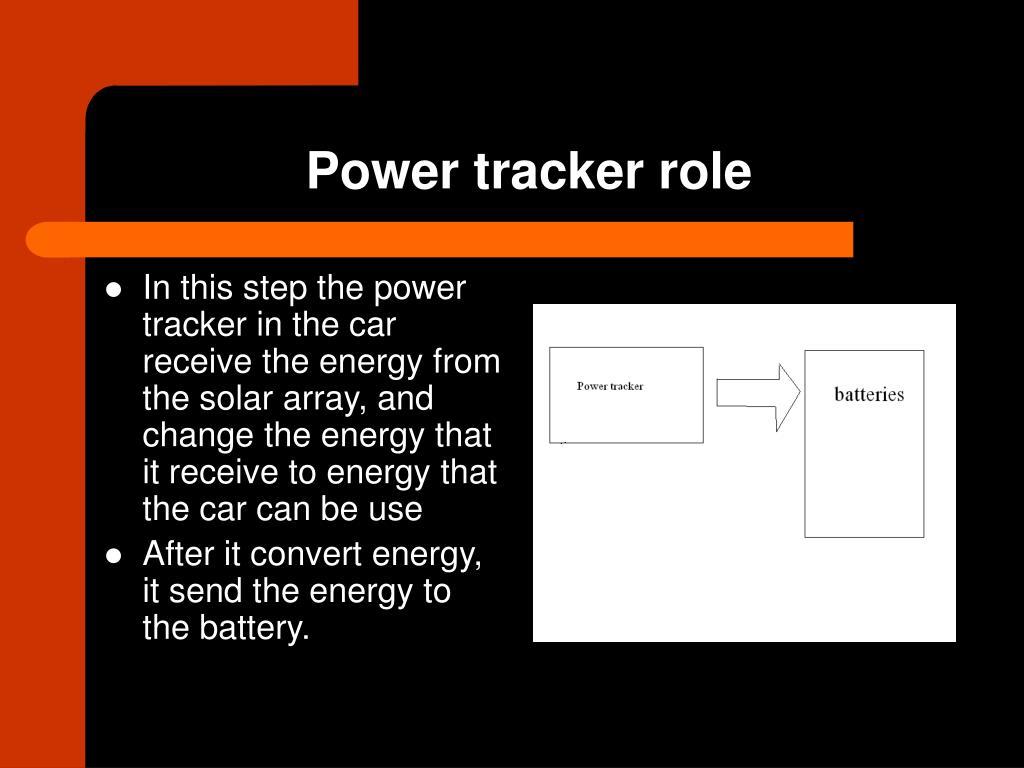 Power tracker role