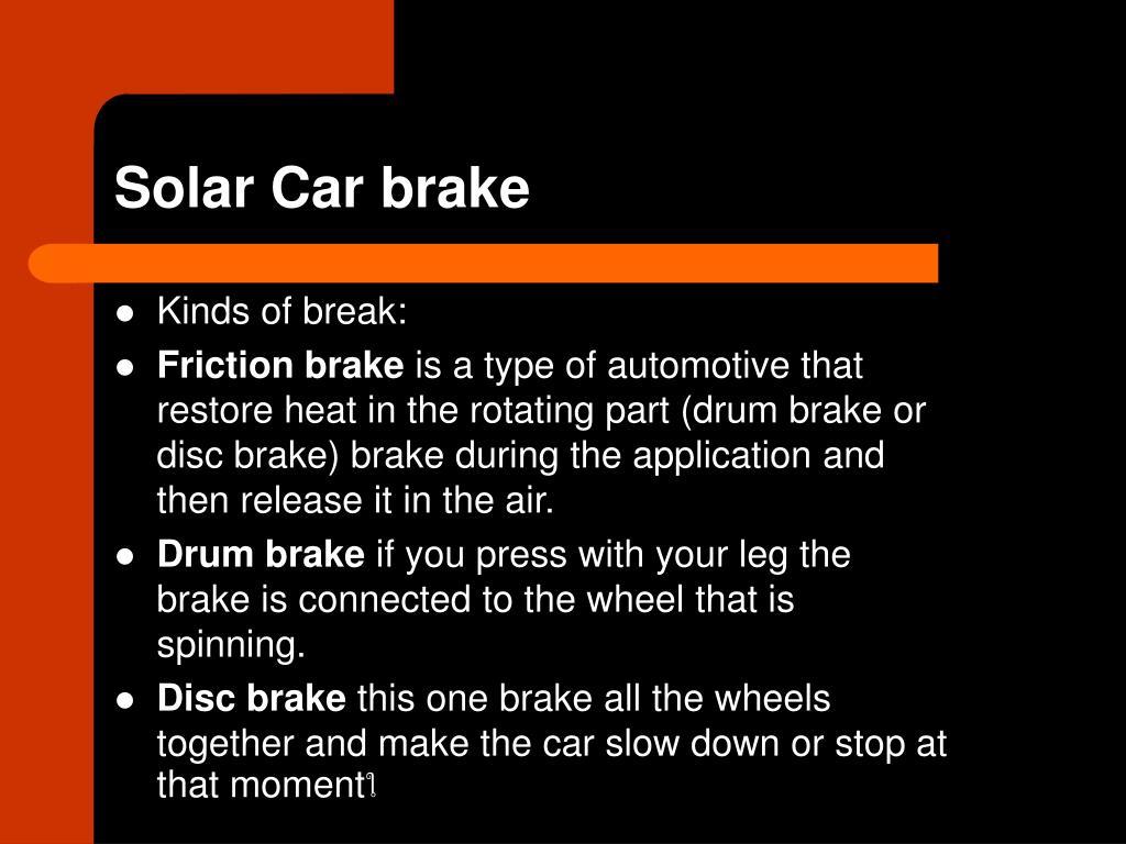 Kinds of break: