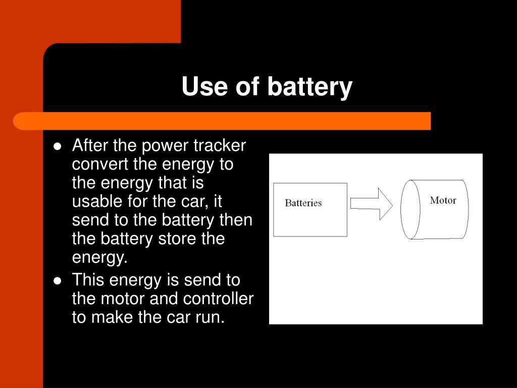 Use of battery