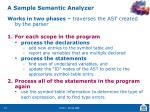 a sample semantic analyzer