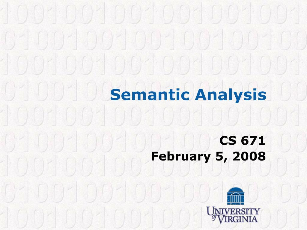 semantic analysis l.